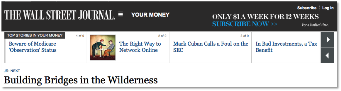 Visit The Wall Street Journal Now