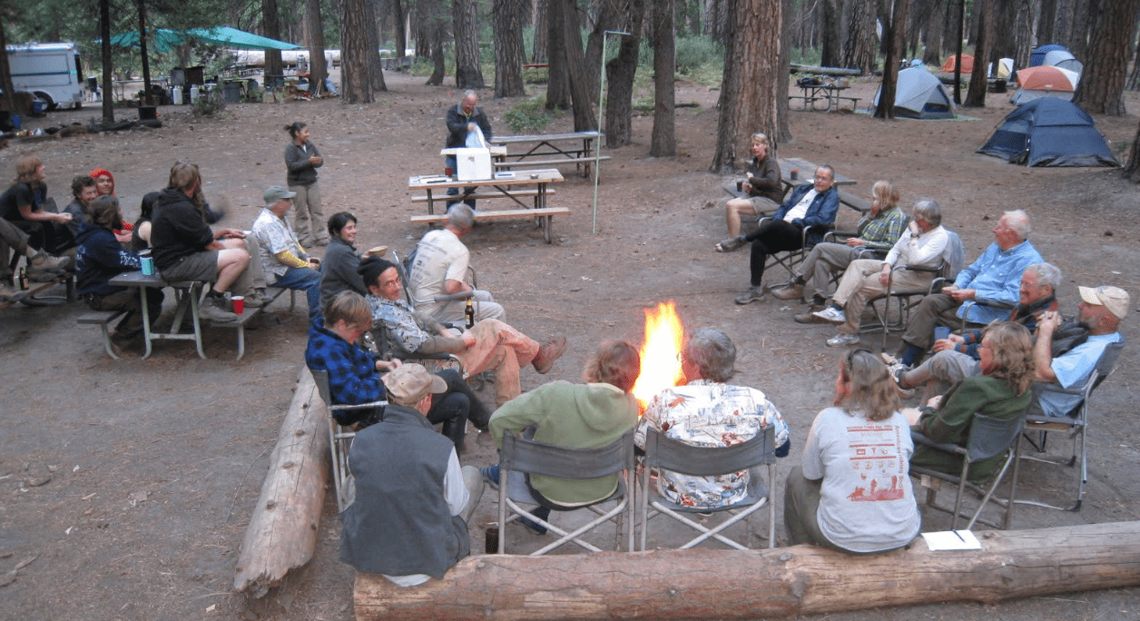 volunteering locally, yosemite, campfire