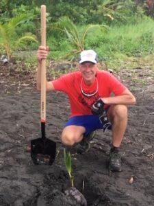 Norman volunteering in Costa Rica
